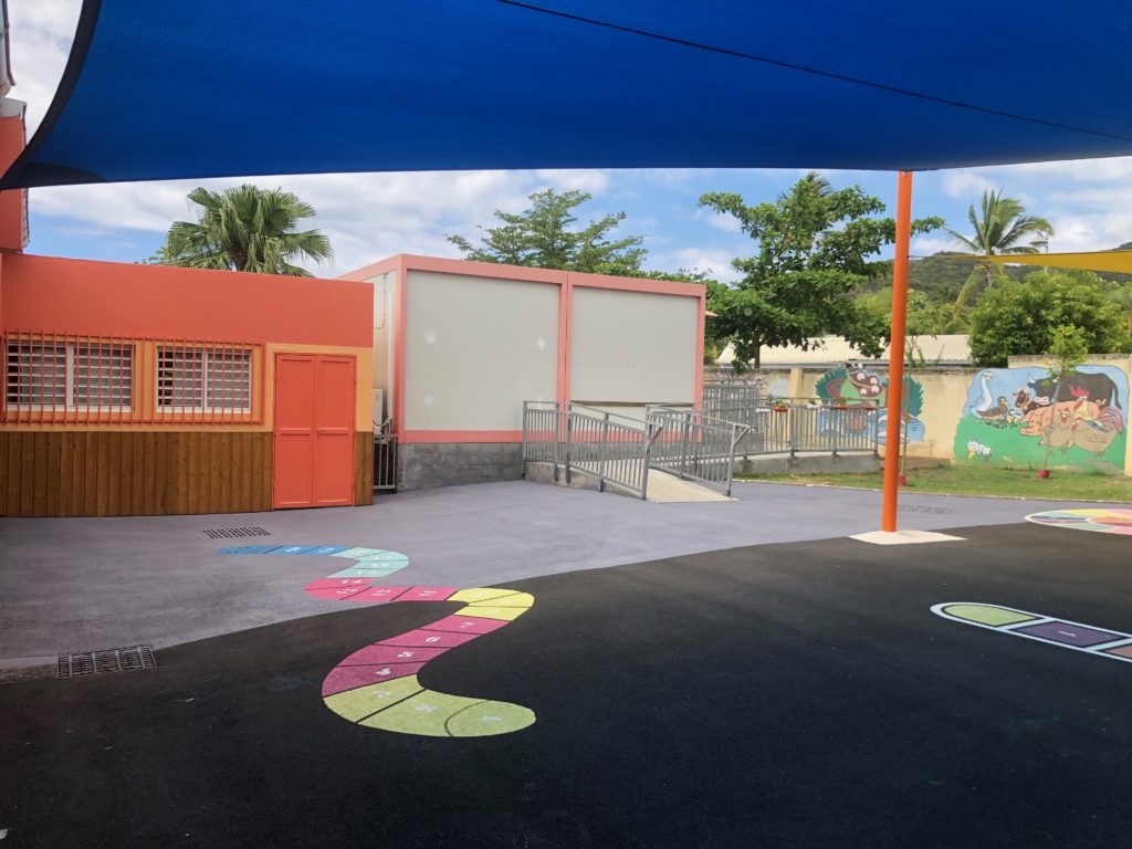 thermacote isolation au sol cour d'école